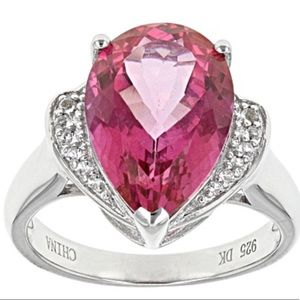 Jewelry - ♦️TODAY ONLY♦️Pink Topaz Ring .925 SS
